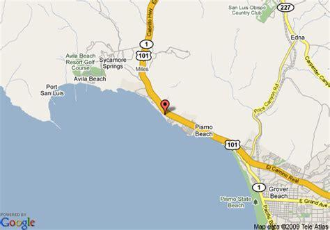 pismo california map map of spyglass inn pismo
