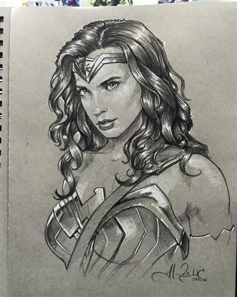 wonder woman sketch sdcc2016 by alexbuechel on deviantart