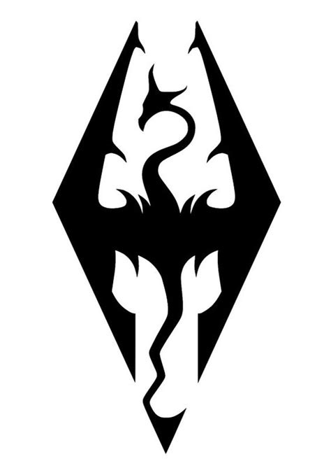 tribal tattoos skyrim skyrim logo cross stitch pattern