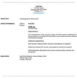 File Clerk Cover Letter by Sle File Clerk Resume Resume Maker Resume Software