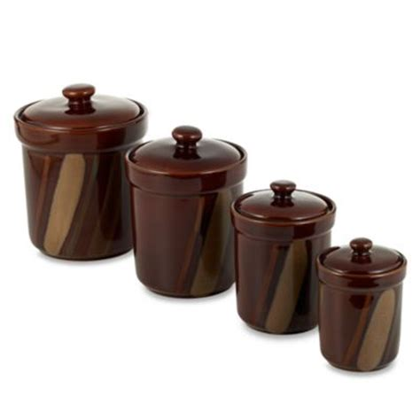 brown kitchen canister sets buy canisters sets from bed bath beyond
