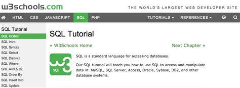 sql query tutorial w3schools w3schools sql tutorial
