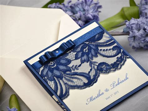 custom pocketfold wedding invitations custom listing 20 navy lace ecru wedding invitation pocket fold wedding invitations vintage