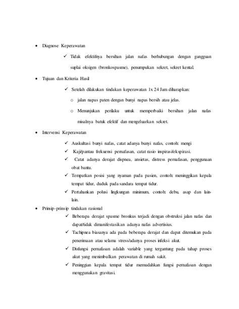 contoh format askep gawat darurat askep gawat darurat kasus asma