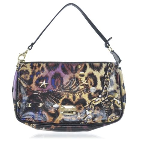 Jimmy Choo Polly Glazed Canvas Bag by Jimmy Choo Glazed Canvas Scarlet Animal Print Clutch 30254