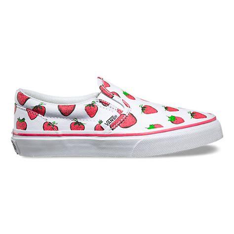 strawberries slip on shop shoes at vans