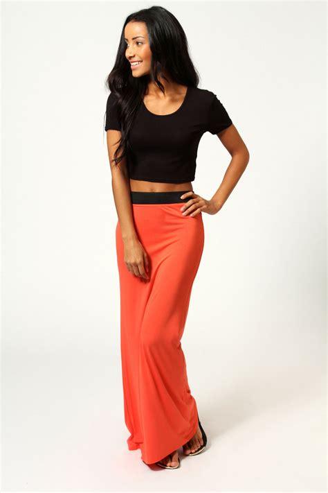 Savanabergo Pad Maxi Jersey Xl helena contrast waistband jersey maxi skirt orange orange shopping s fashion