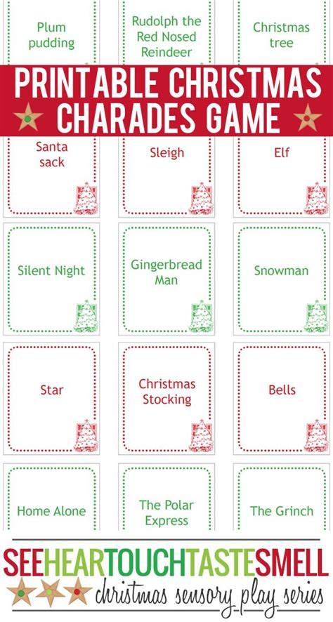 printable christmas pictionary cards 40 free printable christmas games for kids game cards