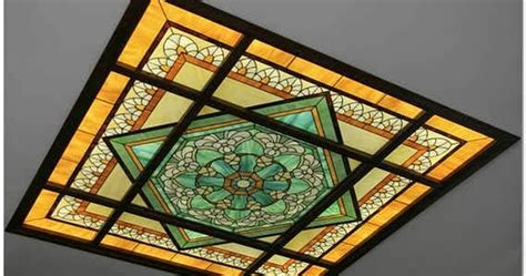 Stained Glass Ceiling Light Panels by Stained Glass Ceiling Designs And Panels In The Interior
