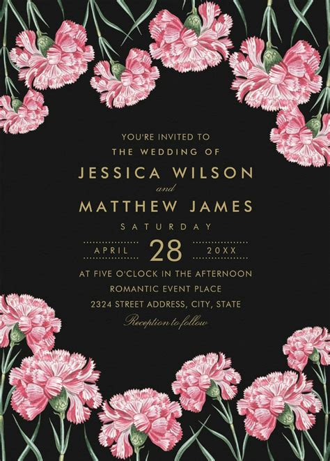 Unique Floral Wedding Invitations by Classic Floral Wedding Invitations Unique