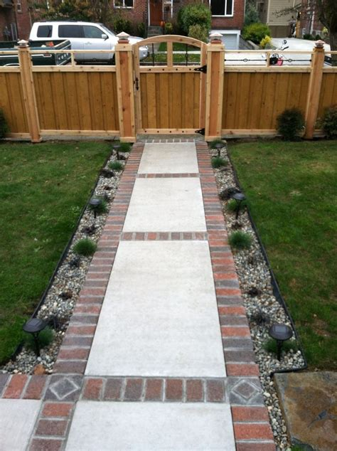 Design Ideas For Brick Walkways Brick And Concrete Walkway Design Ideas For Your Concrete Projects Walkways