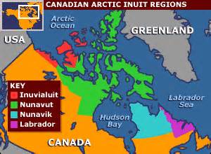 inuit canada map news science nature inuit find home on the web