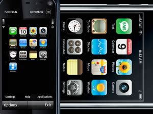 themes e72 iphone free iphone theme nokia n97 and nokia 5800 xpressmusic