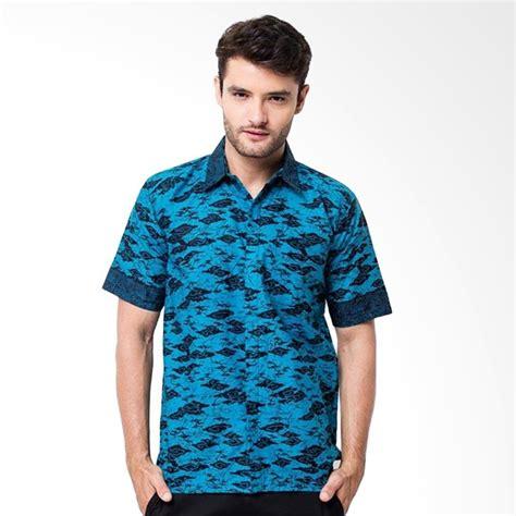 Kemeja Batik Pria Modernmas Koi Tosca jual batik trusmi liris wayang kemeja pria tosca blue harga kualitas terjamin