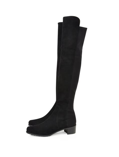 stuart weitzman for scoop suede flat the knee boot in