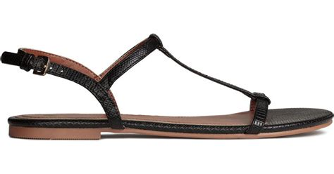 h and m sandals h m sandals in black lyst