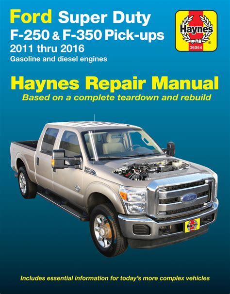 how to download repair manuals 2006 ford f 350 super duty windshield wipe control ford super duty f 250 f 350 haynes repair manual 2011 2016 hay36064