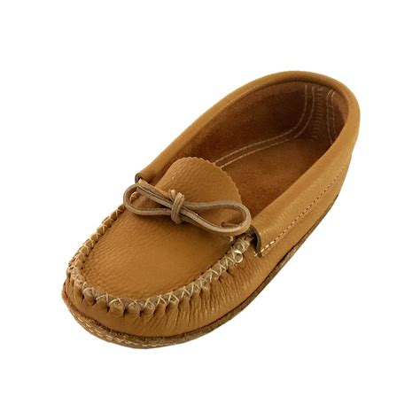 are moccasins slippers s medium brown genuine leather american