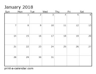 free printable monthly view calendar 2018 printable monthly calendar