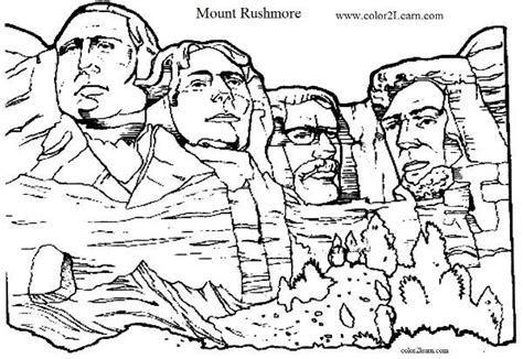 coloring page for mount rushmore pinterest the world s catalog of ideas