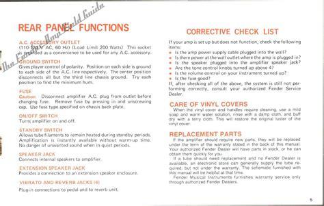 Vintage Amp Guide Manuals