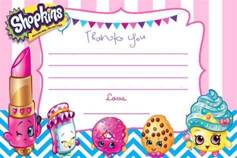printable birthday cards shopkins personalized shopkins thank you note cards diy uprint