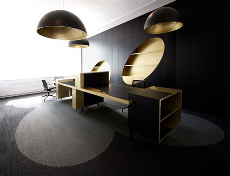 Gold Office by Black And Gold Office From I29 Architects Office Snapshots
