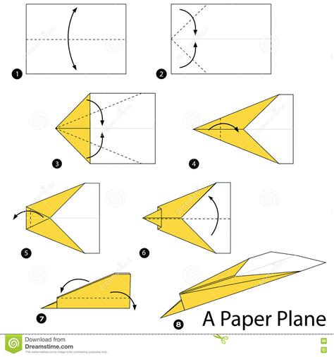 Steps For A Paper Airplane - step by step how to make origami a plane