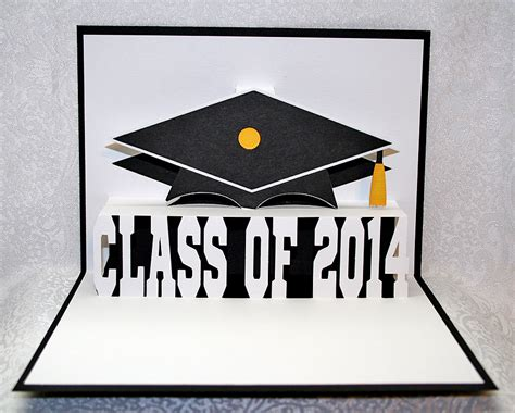 graduation pop up card template pop up graduation card