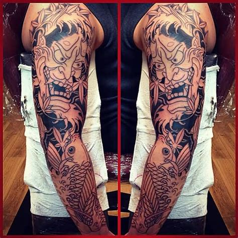 47 fantastic hannya sleeve tattoos