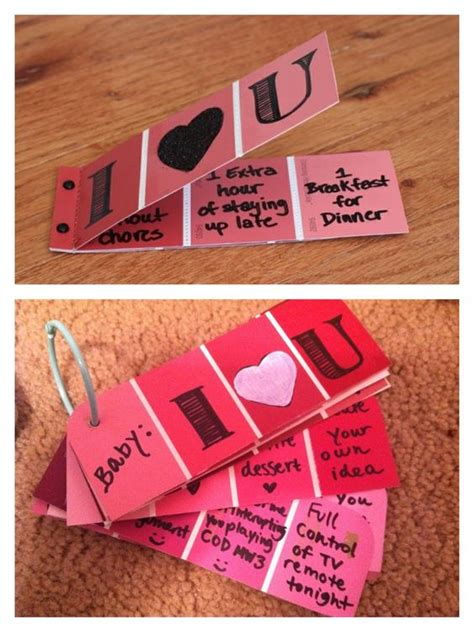 Handmade Coupons - handmade s day inspiration my boyfriend