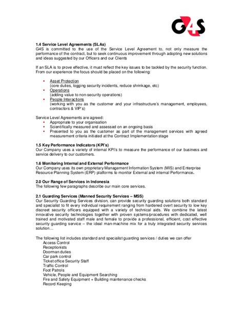 alarm service contract template g4s security services company profile g4s