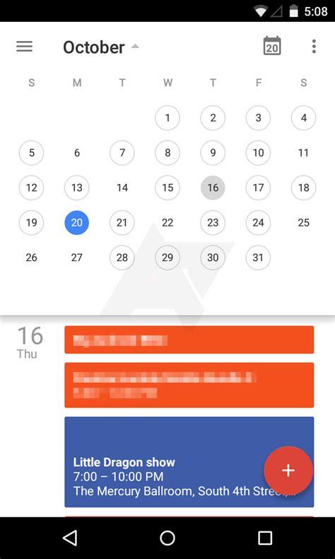 google calendar design update shots of google calendar material design overhaul surface