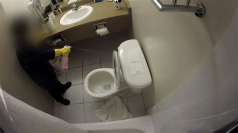 school bathroom camera dirty hotels room testing reveals contamination still