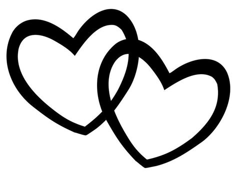 black and white clipart hearts clipart black and white week 6