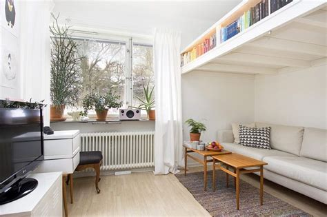 Loft Beds For Studio Apartments | small swedish studio apartment elegantly combines loft bed