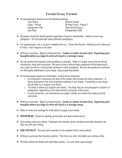 how to write a formal paper how to write a formal essay exle of a formal essay