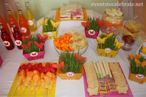 butterfly themed birthday food desserts events