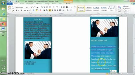 microsoft word 2007 brochure template marvelous how to make a brochure template on microsoft