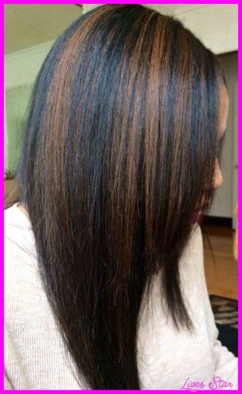black hairstyles highlights black hair caramel highlights livesstar com