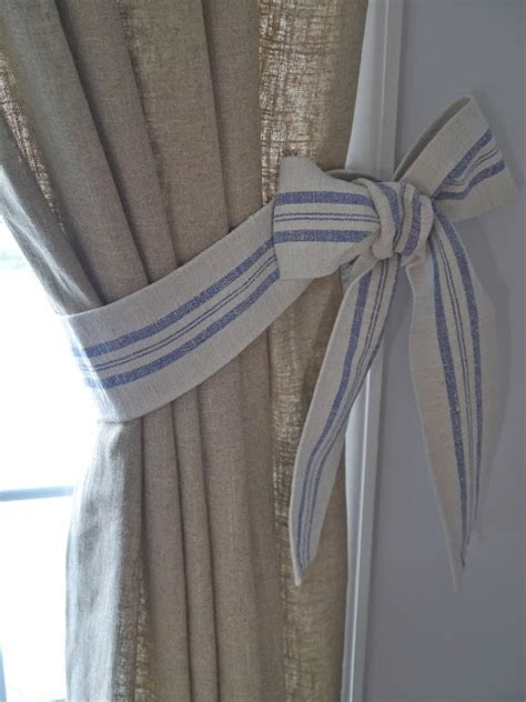 Diy Bow Curtain Tie Backs