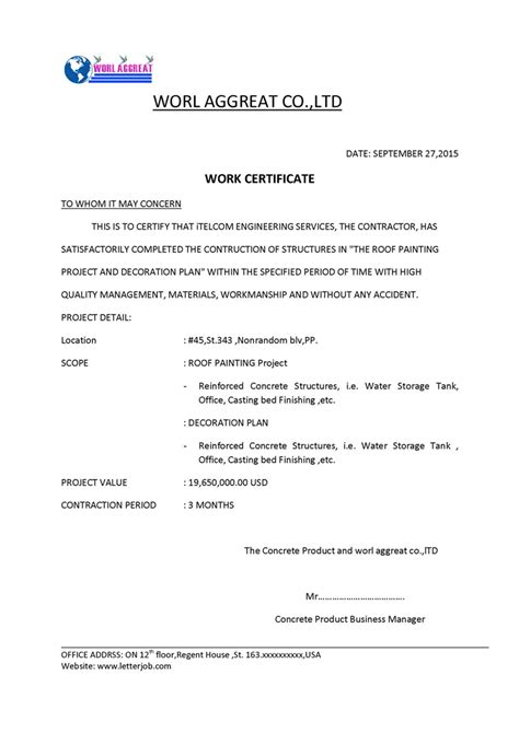 Certificate Letter For Project Quality Engineering Report Template Quality Free Engine