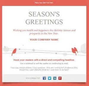 happy holidays template 7 email templates for small businesses nonprofits