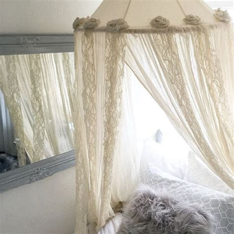 Lace Bed Canopy Bohemian Bed Canopy Princess Bedroom Nursery Crib Shabby Chic Lace Tent Shabby Chic