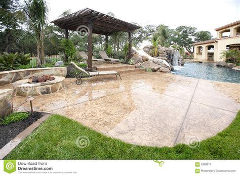 luxury backyard stock photography image 5389612