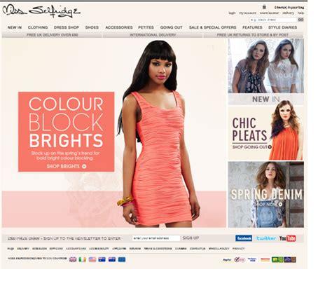 Clothing Websites S Visual Diary Miss Selfridge Website