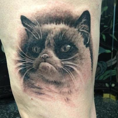 cat tattoo buzzfeed 16 outstanding grumpy cat tattoos