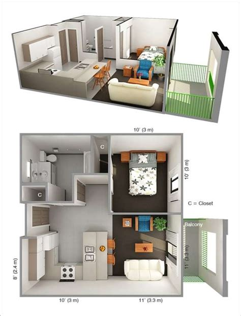 One Bedroom Apartment Design 10 Ideas For One Bedroom Apartment Floor Plans