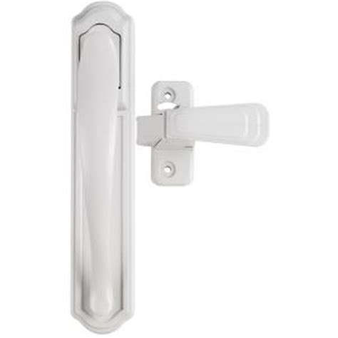 Home Depot Screen Door Handles by Ideal Security White Painted And Screen Door Pull