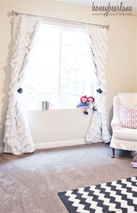 White Ruffled Curtains For Nursery Thenurseries White Ruffled Curtains For Nursery